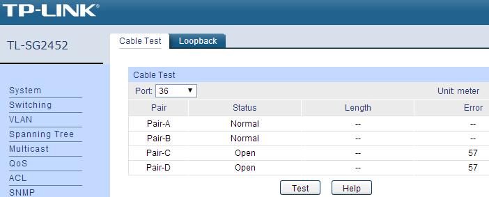 2014 02 11 switch tp-link tl-sg2452 polaczony z netbookiem acer link OK 100M